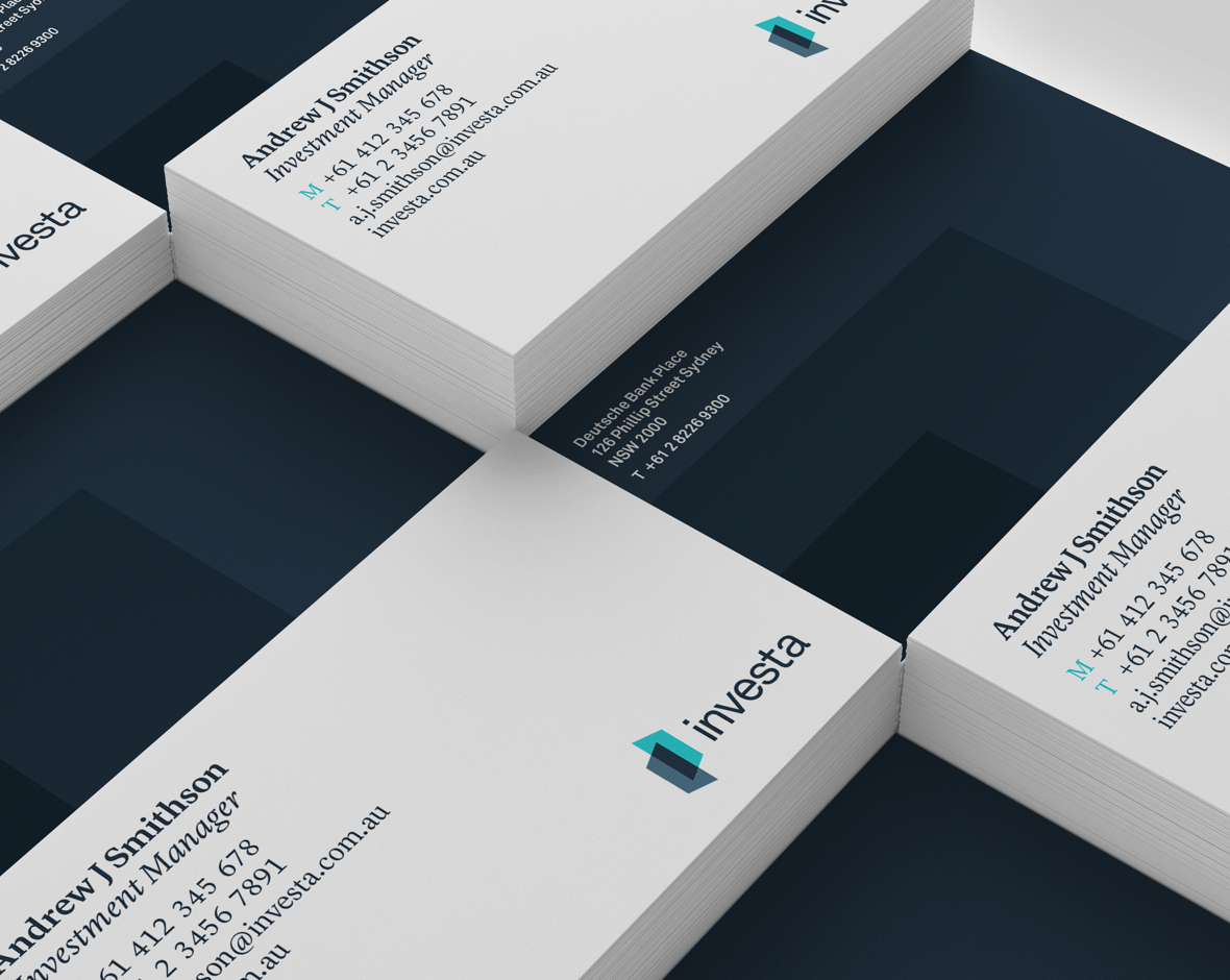 Investa's business cards