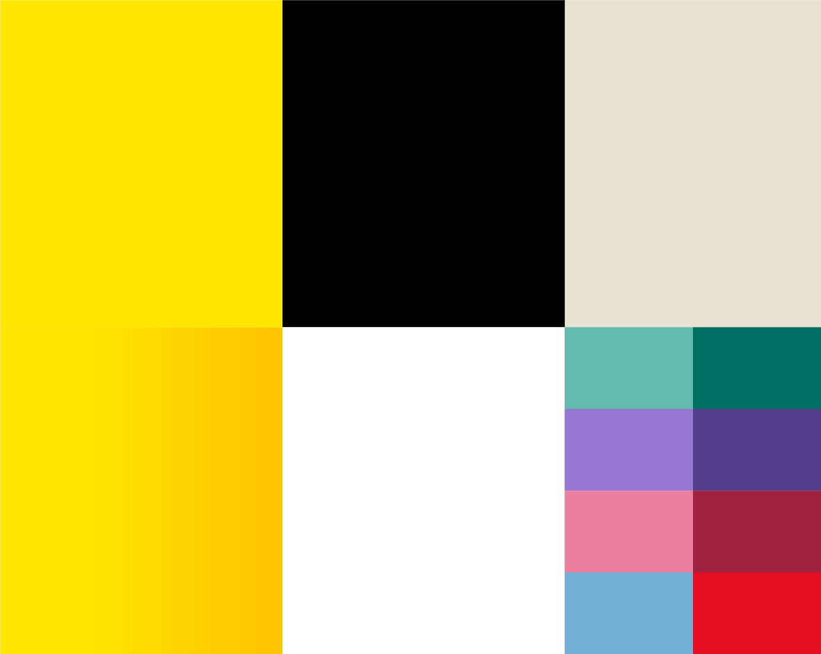 Swatches of the RAA colour palette