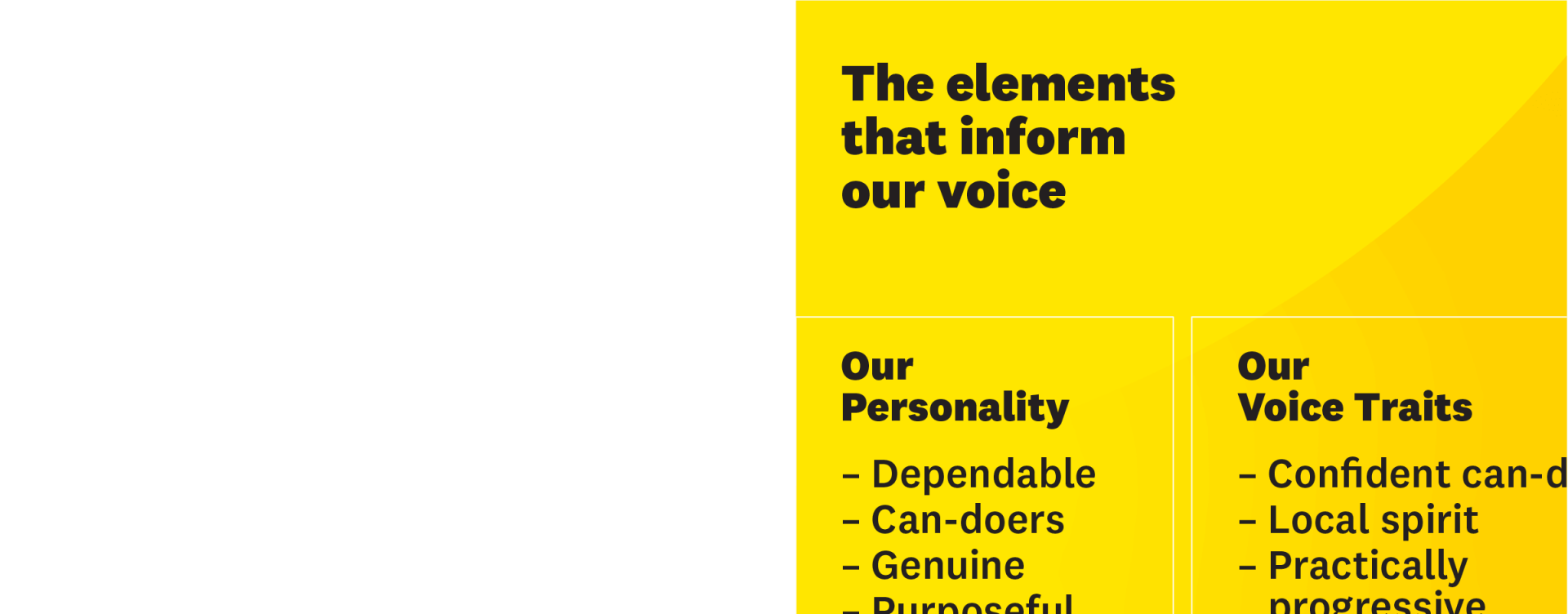 Image showing RAA's tone of voice traits and personality